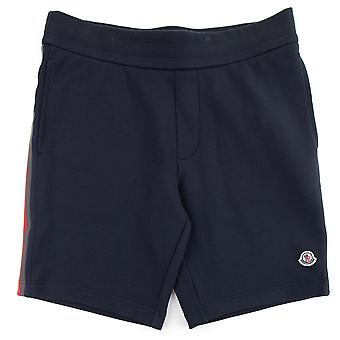 Moncler Bermuda Sweat Shorts W/ Bands Navy 778