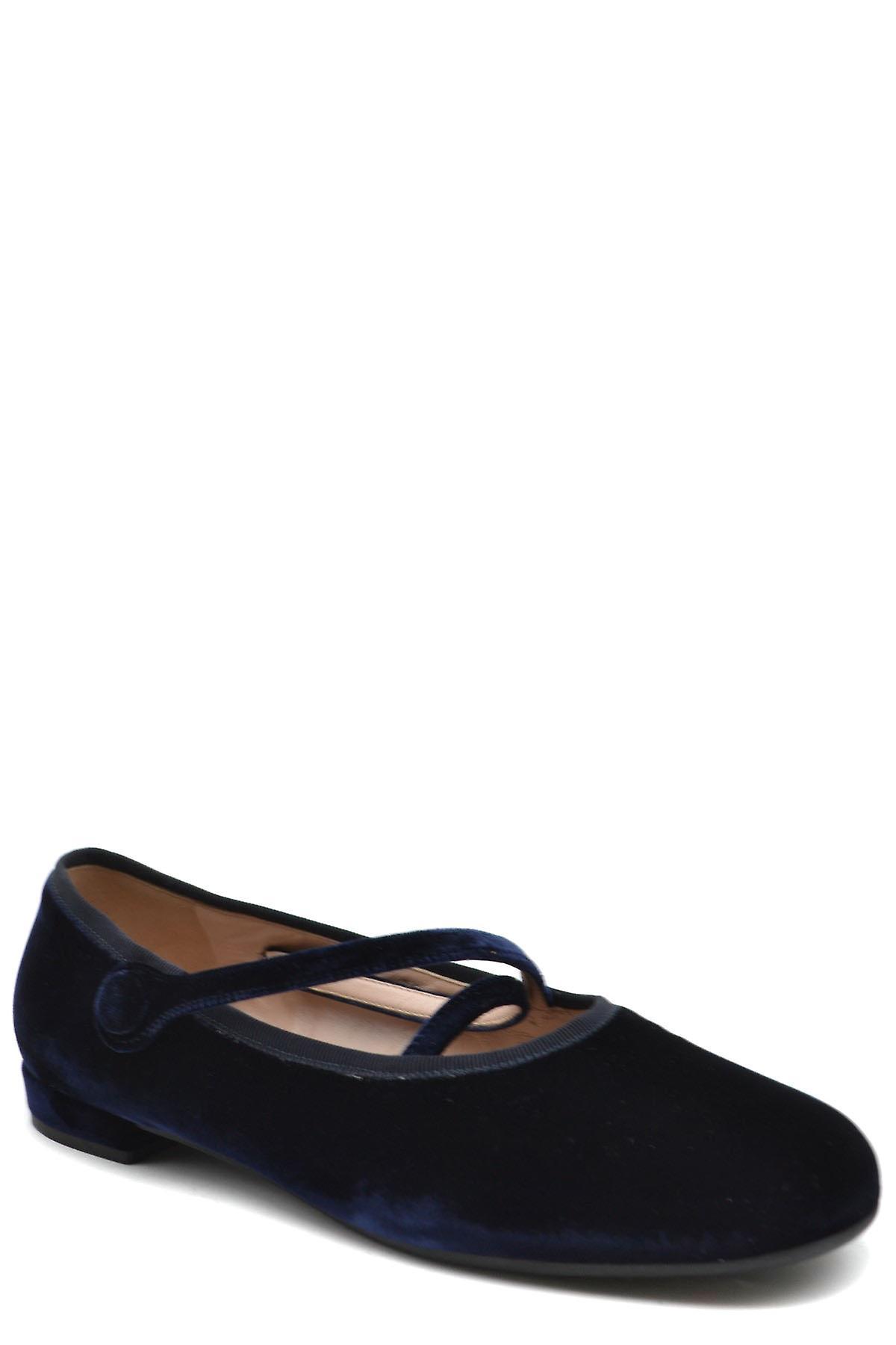 Miu Miu Ezbc057017 Women's Blue Velvet Flats