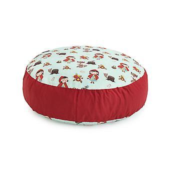 Ready Steady Bed Design Kids Giant Round Floor Cushion | Soft Play Kind Veilig | Peuter Speelkamer woonkamer (Little Red)