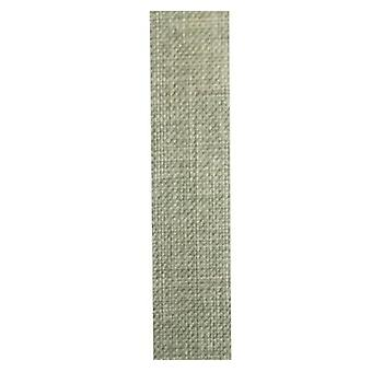 Vivant ribbon lino moss green 20m x 15mm