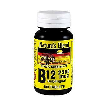 Nature's blend vitamin b-12, 2500 mcg, sublingual tablets, 100 ea