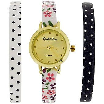 Elizabeth Rose Ladies 3 Thin Interchangeable Watch Strap Gift Set ELZGS01B