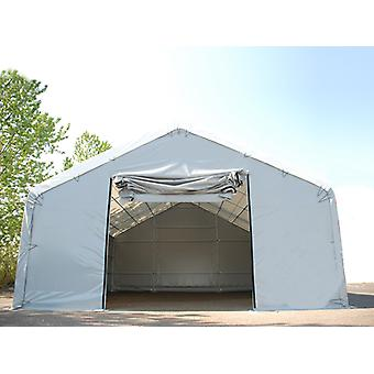 Storage shelter Titanium 8x18x3x5 m, White/Grey