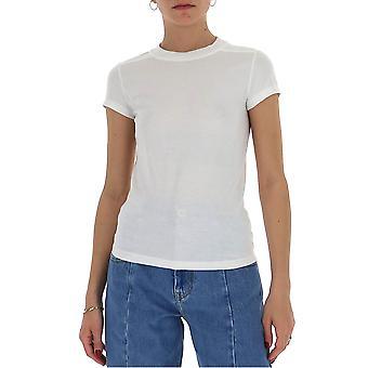 Rick Owens Rp20s1235ja110 Women's White Cotton T-shirt