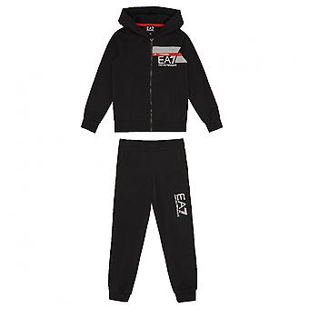 EA7 Boys EA7 Boy's EA7 Black Tracksuit