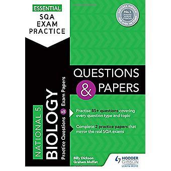 Práctica esencial del examen SQA - Preguntas y documentos de biología nacionales 5