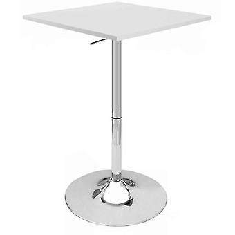 """Set von 4 Modern Home Zeta Zeitgenössische einstellbare Höhe 24"""" Bar Tisch - poliert Chrom Stahl Basis Anpassung Bauchtisch - passt von 28"""" bis 36"""" Hoch (weiß)"""