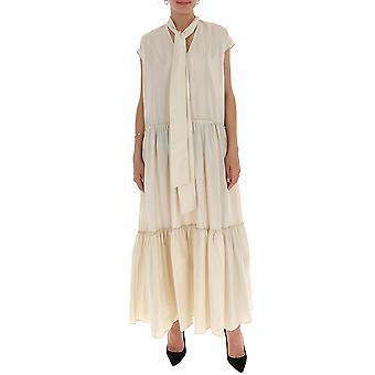 Ballantyne Qld115usr1614022 Women's White Cotton Dress