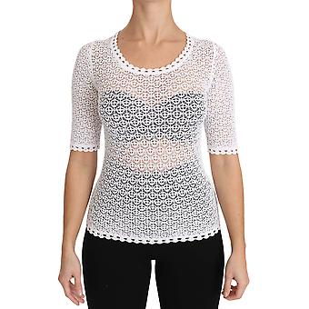 Dolce & Gabbana White See Through Pull Over Top TSH2903-42