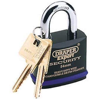 Draper 64194 Expert 61mm HD Padlock & 2 Keys Tough Molybdenum Steel Shackle