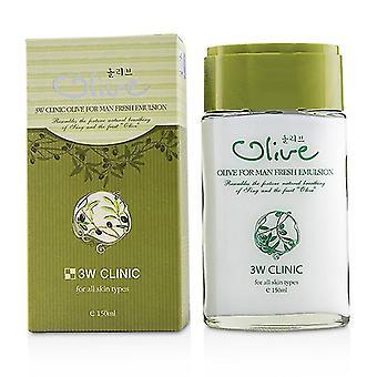 3W Clinic Olive For Man - Fresh Emulsion 150ml/5oz
