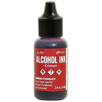 Inchiostro alcolico Tim Holtz .5oz-Crimson