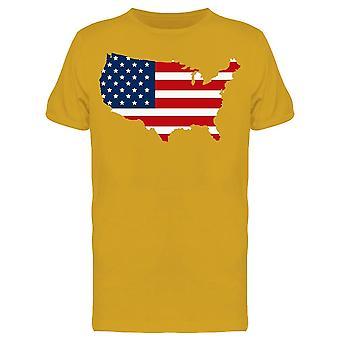 Mappa degli Stati Uniti Tee Men's -Image di Shutterstock