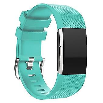 Replacement Wristband Bracelet Strap Band for Fitbit Charge 2 Classic Buckle[Teal,Large] BUY 2 GET 1 FREE