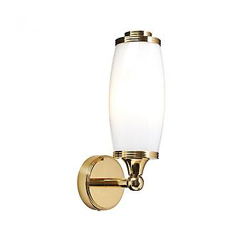 Eliot1 Wall Lamp, Polished Brass And Glass