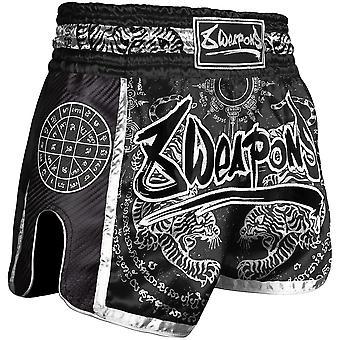 8 Weapons Sak Yant Tigers Carbon Muay Thai Shorts
