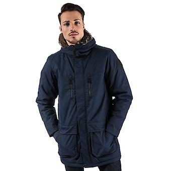 Men's Bench Wadded Fur Parka Jacket in Blue
