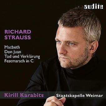 Strauss / Weimar - Macbeth / Don Juan / Tod Und Verklarung [CD] USA import