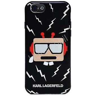 KARL LAGERFELD Robot Siliconen Backcover Hoesje iPhone 6S / 6 - Zwart