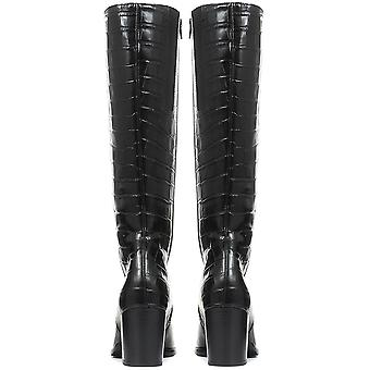 Gabor Womens Lettie Slim Fit Leather Knee Boot