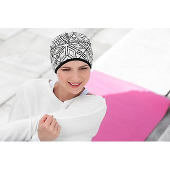 Chapéu de quimioterapia ativo - Branco Geométrico Infinito