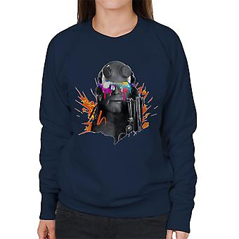 Hellboy II Paint Splatter Women's Sweatshirt