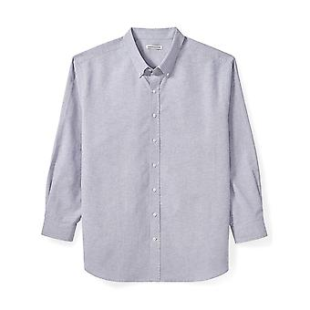 Essentials Men's Big & Tall Long-Sleeve Oxford Shirt fit by DXL, Gray,...