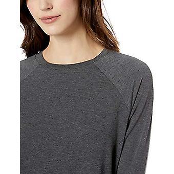 Marchio - Mae Women's Raglan Long Sleeve Top, Grigio carbone, Grande