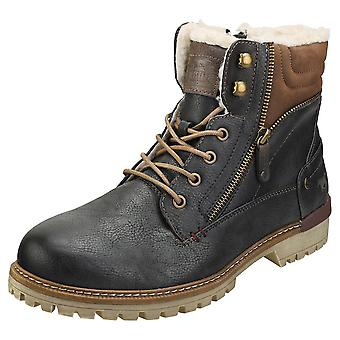 Mustang Lace Up Side Zip Mens Chukka Boots in Graphite
