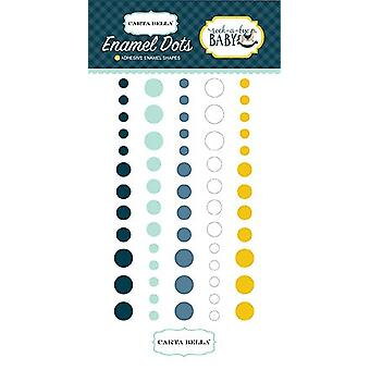 Carta Bella Rock-a-Bye Boy Enamel Dots