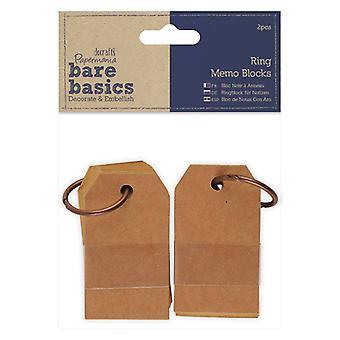 Papermania Bare Basics Ring Memo Blocks (2pcs) (PMA 174364)