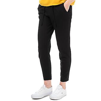 Women's Jacqueline de Yong Pretty Jersey Trousers in Black