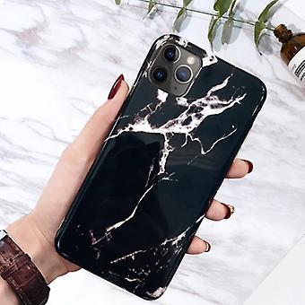 Moskado iPhone 8 Plus tapauksessa marmori rakenne - iskunkestävä kiiltävä tapauksessa graniitti kansi CAS TPU