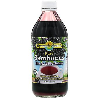 Dynamic Health  Laboratories, Pure Sambucus Black Elderberry, 100% Juice Concent
