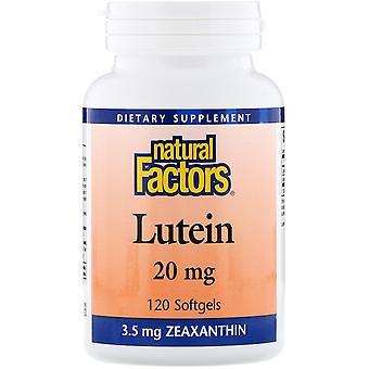 Natürliche Faktoren, Lutein, 20 mg, 120 Softgels