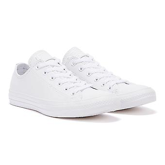 Converse All Star OX Mens White Leather Trainers