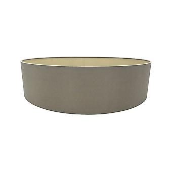 Rund cylinder, 600 x 150mm dual faux siden tyg nyans, Taupe, Halo guld