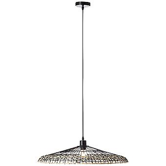 BRILLIANT Fixi Pendelleuchte 1flg schwarz/natur Innenleuchten,Pendelleuchten   1x A60, E27, 40W, geeignet für Normallampen