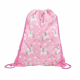 Rainbow Pink Unicorn snor Bag / svømme Bag