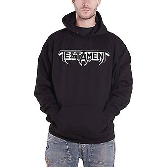 Testament Hoodie Bay Area Thrash Band Logo new Official Mens Black Pullover