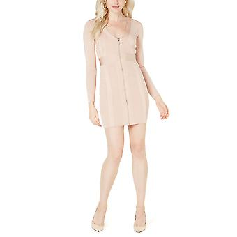 Guess | Long Sleeve Plunging V-Neck Mirage Dress