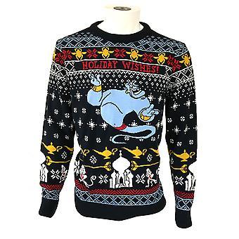 Aladdin Unisex Erwachsene gestrickte Genie Weihnachten Pullover