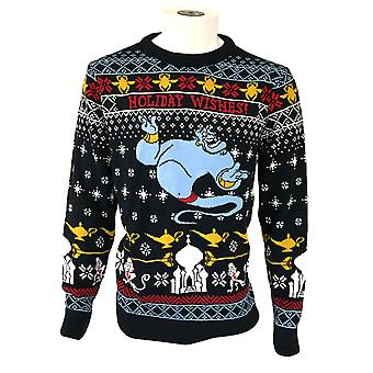 Aladdin Unisex Adult Knitted Genie Christmas Jumper