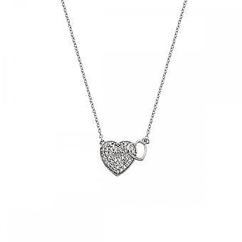 Hot diamanter Sterling sølv fellesskap hjerte anheng DP730