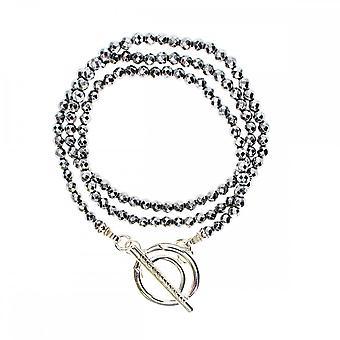 Nikki Lissoni Titanium kleur zilver vergulde wrap armband