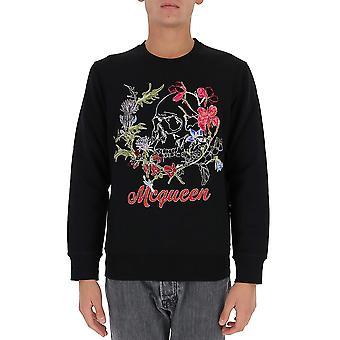 Alexander Mcqueen 626588qpz750901 Men's Black Cotton Sweatshirt