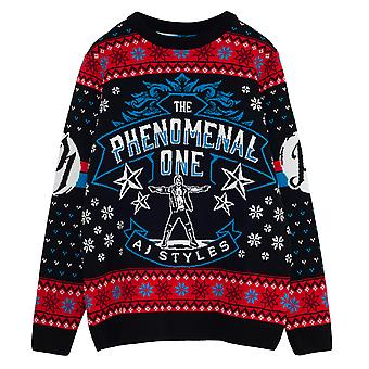 WWE AJ Styles Phenomenal Men's Knitted Jumper | Official Merchandise