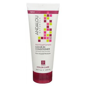 Andalou Naturals 1000 Roses Complex Color Care Leave-In Conditioner, 6.8 Oz