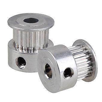 2pcs 2GT 20T 5mm Bore Aluminum Pulley for Kossel Delta 3D Printer Timing Belt