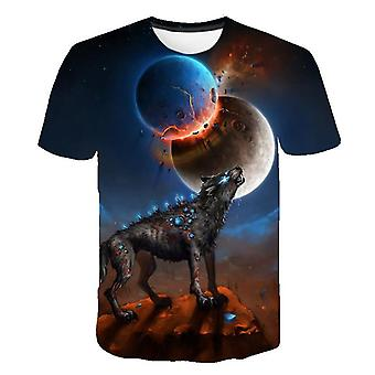 3d Wolf Printed Cool T-shirts For And Set-1
